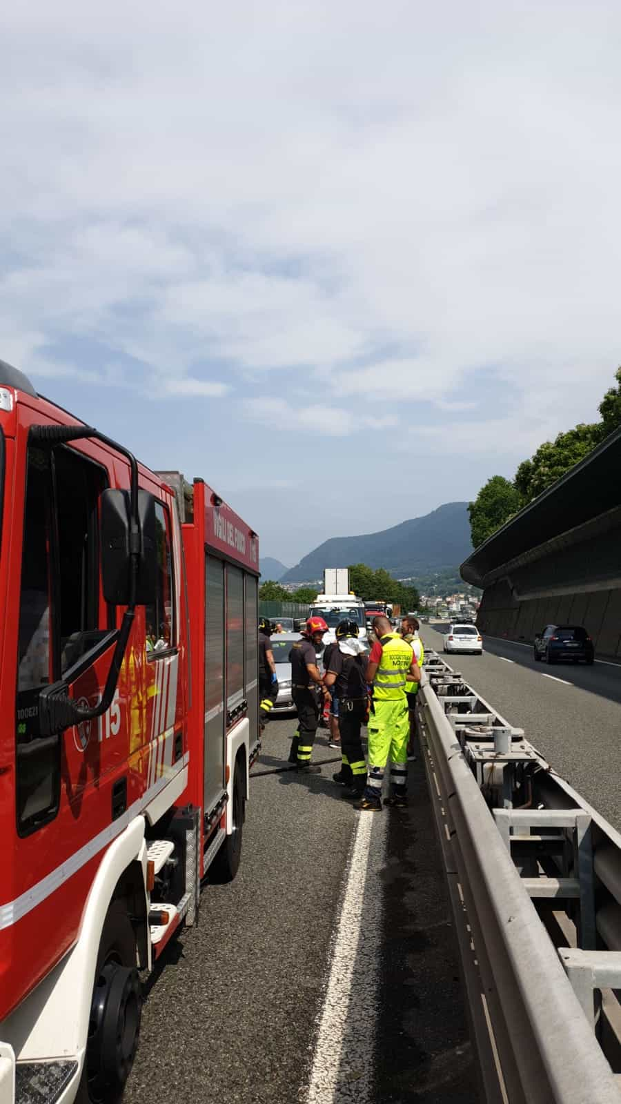 incidente in autostrada 15 giugno 2019 2-2-2