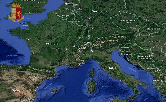 cartina europa droga-2