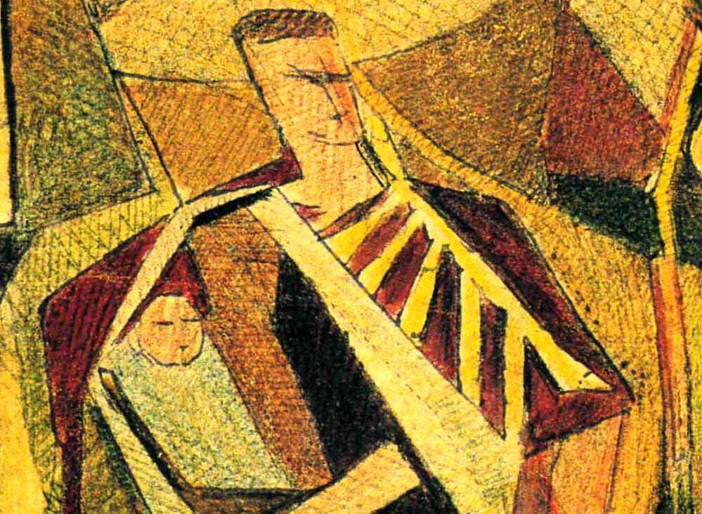 Mario Radice_Bozzetto per il mosaico di Casa Notari_1949_Fino Mornasco_CO_tecnica mista su cartoncino_cm 20x10-2