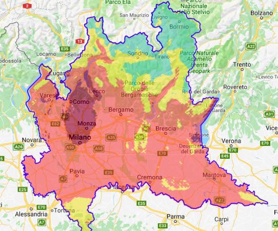 Cartina Inquinamento Lombardia.Ondata Di Caldo E Inquinamento A Como Allarme Ozono Di