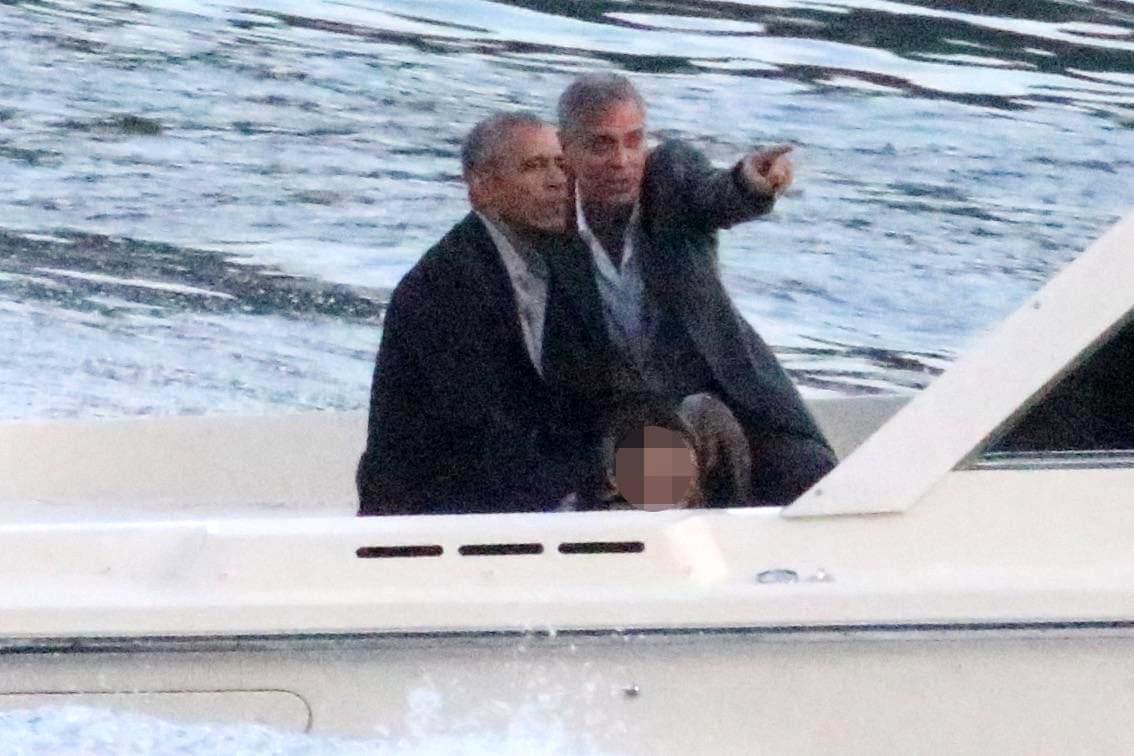clooney-obama-lago foto ansa (1)-2
