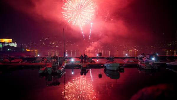Fuochi d'artificio per il Capodanno 2020 a Como