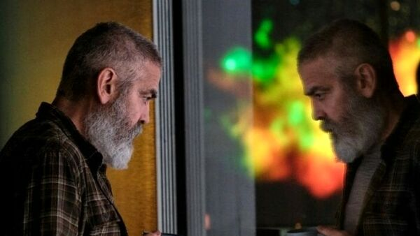 George Clooney in un frame dal nuovo film