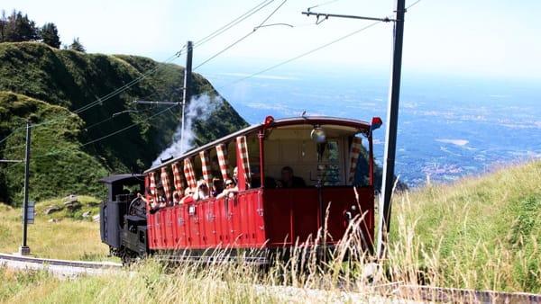 In cima al Generoso con il treno a vapore per rivivere la Belle Époque