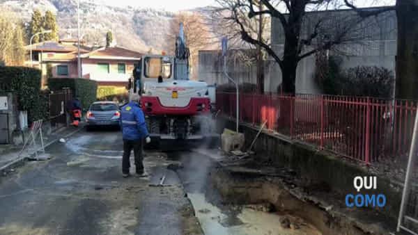 Guasto al teleriscaldamento di Como: si scava in Salita Cappuccini