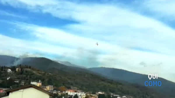 Incendio a Tavernerio, in fiamme 40 ettari di bosco
