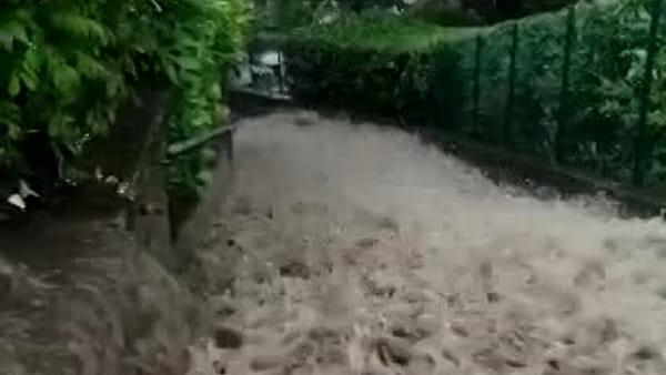 Impressionante video a Loveno di Menaggio: strada inondata