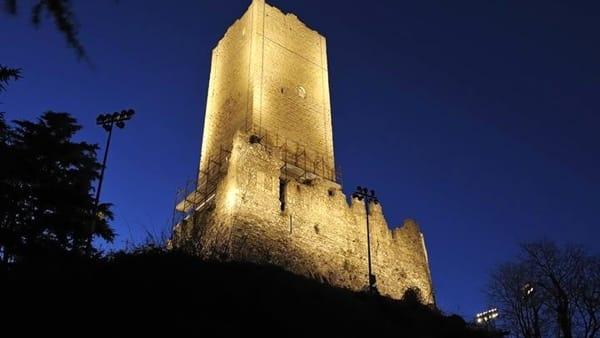 Castello Baradello by Night
