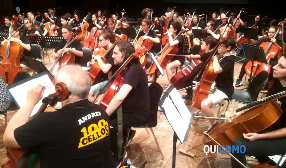 I 100 Cellos al Sociale per le prove