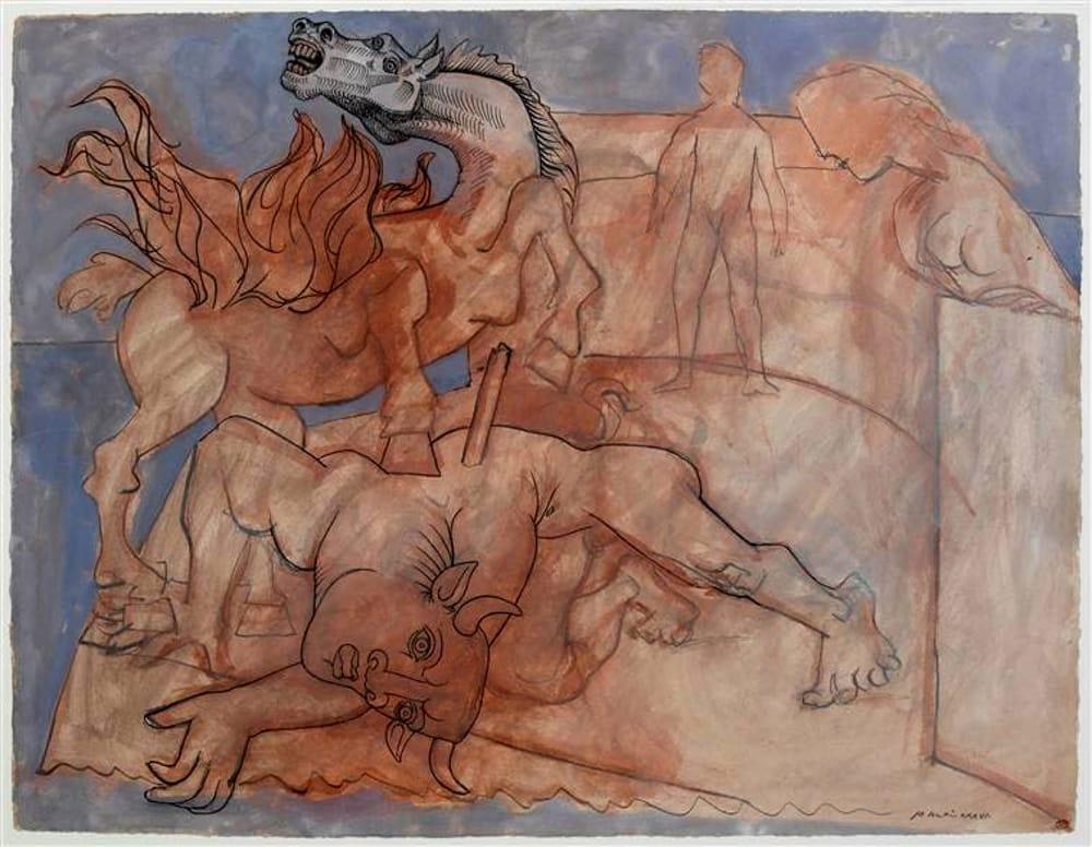 Una delle opere di Picasso in mostra al MASI