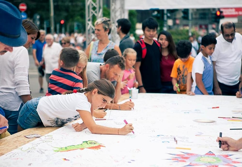 Un momento dell'evento The Big Draw