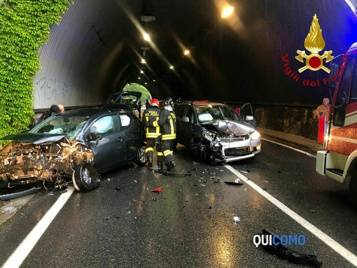 incidente in galleria a Cernobbio 6