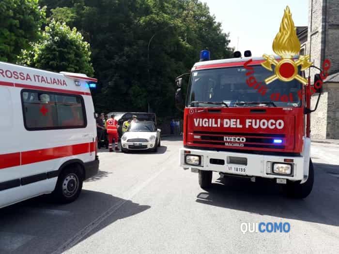 Incidente ad Alzate Brianza (foto vigili del fuoco)