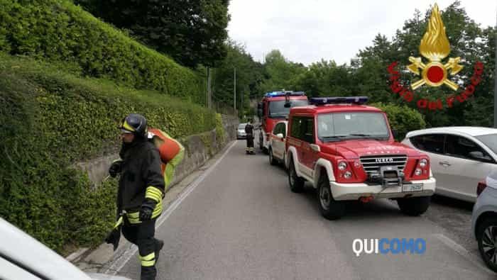 Escursionista soccorso a Plesio (foto vigili del fuoco)