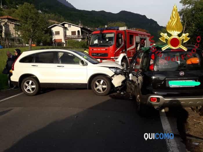 Incidente a Carlazzo (foto vigili del fuoco)