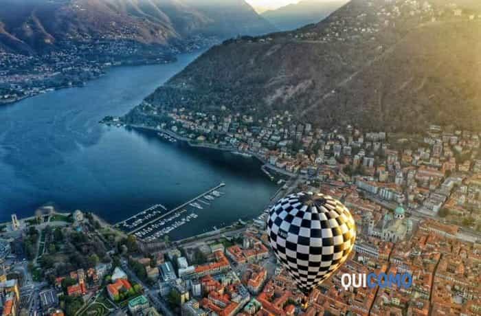 Como e il lago dalla mongolfiera (Foto Valerio Carletto Aerial E-Motion Studio)